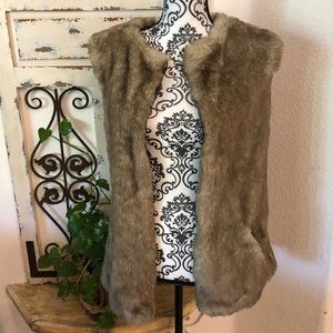 MNG  by mango faux fur vest